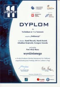 dyplom deklaracja